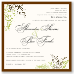 Autumn Leaves Wedding Invitation Template