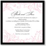 Damask Pink Wedding Invitation Template