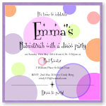 Disco Dots Bat Mitzvah Invitation Template