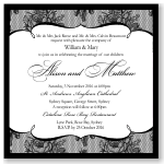 French Classic Wedding Invitation Template