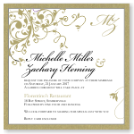 Gold Flourish Wedding Invitation Template