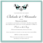 Love Birds Wedding Invitation Template
