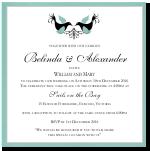 Love Birds Wedding Invitation Template