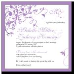 Purple Flourish Wedding Invitation Template