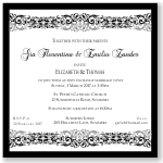 Vintage Scroll Wedding Invitation Template