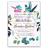 Boho Peonies Floral Wedding Invitations